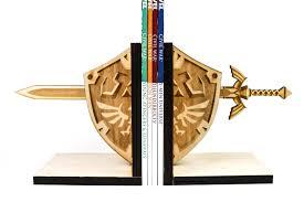 bookends zelda hylian shield u0026 master sword book ends