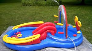 Intex Inflatable Pool Intex Play Center Youtube