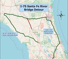 Map Of Ocala Fl Santa Fe River Floods Closes Several Roads