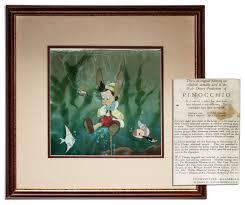 disney art of animation floor plan walt disney pinocchio cel art sells for 8 908 at natedsanders