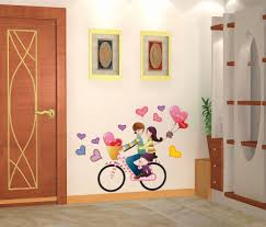 wall stickers wall decals bedroom price at flipkart snapdeal decals arts bicycle lovers bedroom 3d decorative wall stickers available at craftsvilla for rs 338