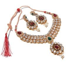 handmade necklace design images Jewar muliclour ad gold plated indian bridal necklace jpg