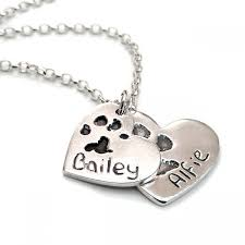 personalized paw print necklace personalised pet s paw print necklace in crafted silver