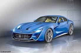 Ferrari F12 Blue - renders next generation ferrari f12 2019 germancarforum