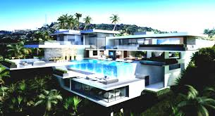 luury beach mansions with pools golf court eotic beach surripui net