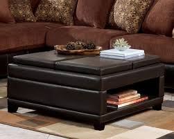glass ottoman coffee table with storage coffee table with
