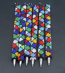 beaded african pen cover and pen u2013 cultures international from