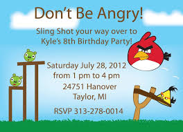 angry bird birthday invitation