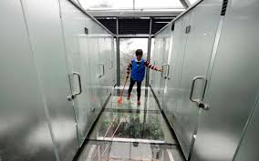 china debuts completely see through bathroom travel leisure