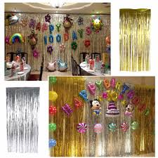 Halloween Birthday Party Decorations Online Get Cheap Party Decoration Foil Curtain Aliexpress Com