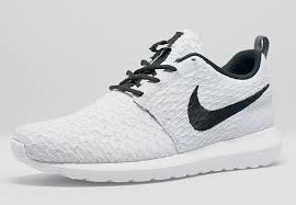 rosch runs nike men flyknit roshe run white black shoes