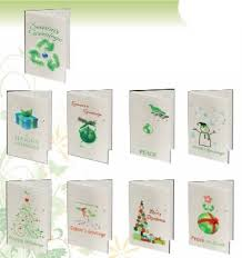 seeded paper color christmas cards with seeded paper