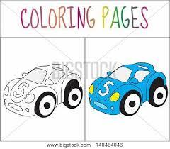 coloring book toy car vector u0026 photo bigstock