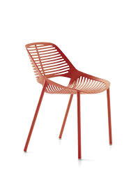 Contract Outdoor Furniture Contemporary Chair Cast Aluminum Contract Black Niwa By