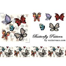 free vector butterfly pattern freevectors