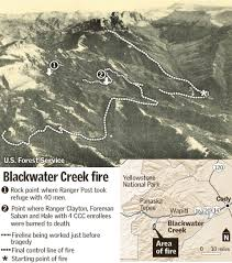 Wyoming Wildfires Map The Deadly Blackwater Fire Wyohistory Org