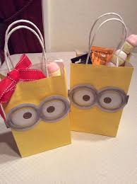 minion gift bags minion despicable me birthday party ideas pink lover