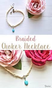 diy choker necklace braided suede darice diy choker choker