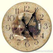 kitchen clocks wine theme blog wine themed kitchen wall clocks