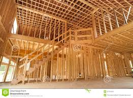 Frame A House by Interior Framing Of A New House Royalty Free Stock Images Image