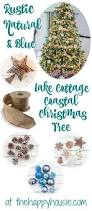 our rustic natural u0026 blue lake cottage coastal christmas tree