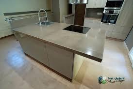 beton ciré cuisine plan travail les ateliers brice bayer architecture d intérieur plan de