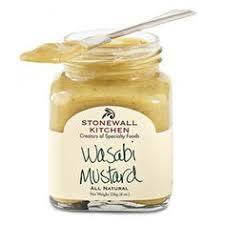 wasabi mustard stonewall kitchen farmhouse relish mixed with cheese