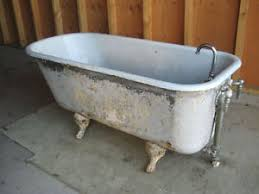 antique cast iron clawfoot tub 4 1 2 foot includes ebay