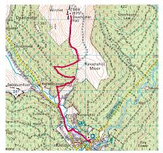 Greyhound Routes Map by Deadwater Fell Kielder Icy Solo Wild Camp Mint Outdoors