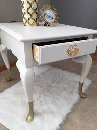 hollywood regency side table vintage broyhill side table painted