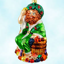 radko ornaments ghost of present a carol food fruit 1999