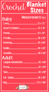 Queen Size Bed Dimensions Metric The Complete List Of Crochet Blanket Sizes Free Chart From