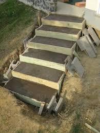 treppe betonieren 12 besten gartentreppe bilder auf aussen