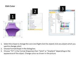 ppt continuous flow of octagonal curved arrows powerpoint 2010 5