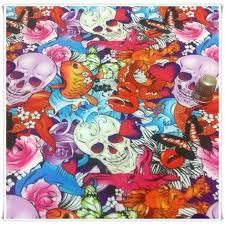 imagenes de calaveras que cambian de color tela de neopreno soft shell con dibujos de calaveras orientales