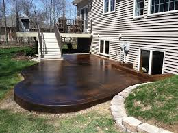 Color Concrete Patio by Stained Concrete Patio Mode Indianapolis Contemporary Patio Image