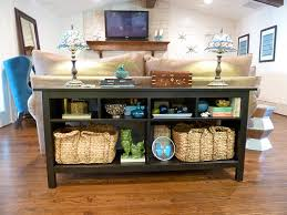 table that goes behind couch what to put on a sofa table ezhandui com
