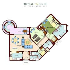 floor plans of royal club at palm jumeirah