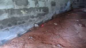 water leaks into block wall foundation youtube