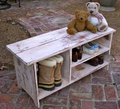 Small Bench With Shoe Storage by Diy Wood Whitewashed Bench With Storage For Shoes And Boots