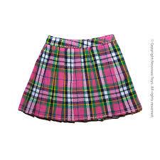 pink tartan nouveau toys series 1 6 scale pink tartan plaid skirt