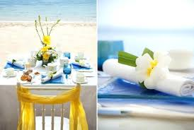 Yellow And Blue Decor Blue And Yellow Wedding Reception Decor Beach Bridal Shower Decor
