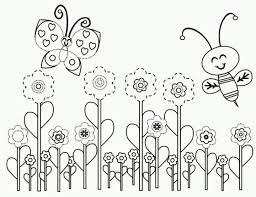 spring bee coloring bees bugs butterflies bebo pandco