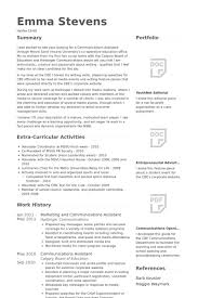 communications assistant resume samples visualcv resume samples