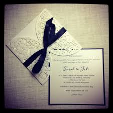 Black And White Invitation Card Black And White Laser Cut Simply Stunning Stationery