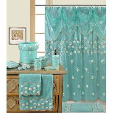 Turquoise Shower Curtains Blue Shower Curtains You Ll