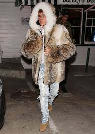 justin bieber kanye west and more men in fur moments