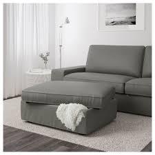 Kivik Ottoman Ikea Kivik Footstool With Storage Borred Gray Green Living
