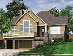 house plans for sloped lots plan 69035am craftsman with two great room house and