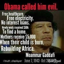Gaddafi Meme - the great muammar gaddafi if the western world only knew the truth